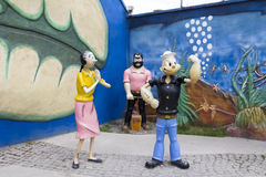 Popeye雕塑 库存照片