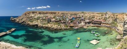 Popeye-Dorf Malta Lizenzfreie Stockfotos