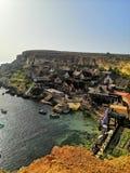 Popeye Dorf in Malta lizenzfreies stockfoto