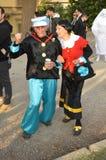 Popeye och oliv på Lucca komiker och lekar 2014 Royaltyfria Foton