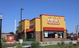 Popeye-` s Fried Chicken Store lizenzfreies stockbild