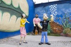 Popeye-Skulptur stockfotos