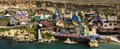 Popeye Village. In Malta, Europe Royalty Free Stock Photos
