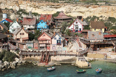 Popeye Village, Anchor Bay, Malta Royalty Free Stock Images