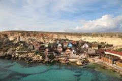Popeye Village, Anchor Bay, Malta Stock Photo