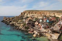 Popeye Village, Anchor Bay, Malta Stock Image