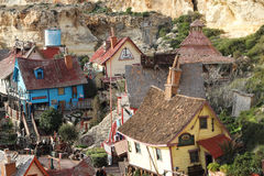 Popeye Village, Anchor Bay, Malta Royalty Free Stock Photo