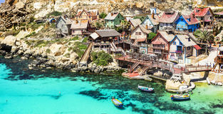 Popeye village in Malta. Famous Popeye village in Malta Stock Images