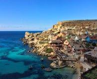 Popeye village in Malta. Famous Popeye village in Malta Stock Photo