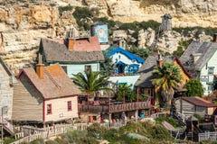 Popeye Village, Malta Stock Images