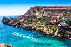Popeye Village Malta. One of the major tourist attractions on the Maltese Islands Royalty Free Stock Image