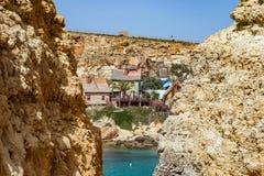 Popeye Village, Malta. Popeye Village in Mellieha on Malta island, Europe Royalty Free Stock Image