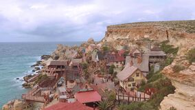 Popeye Village - a popular landmark and former film location in Malta - MALTA, MALTA - MARCH 5, 2020