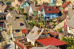 Popeye Village. A top view of the Popeye village in Malta royalty free stock photo