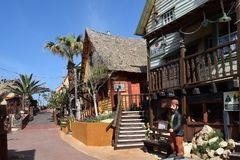 Popeye wioska, filmset rodziny park, wyspa Malta Obrazy Stock