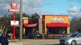 Popeyes-Restaurant Stockbilder