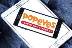 Popeyes-Schnellrestaurantlogo stockfoto