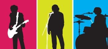 Popgroep royalty-vrije illustratie
