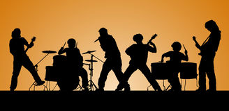 Popgroep. Stock Foto's