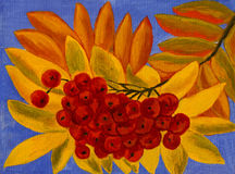 Popiół jagody, obraz olejny Obrazy Royalty Free