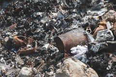 Popiół tekstura od jałowego spopielanie przyczyny zanieczyszczenia zdjęcia royalty free