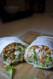 Popiah. Is a Fujian/Chaozhou-style fresh spring roll common in Taiwan, Singapore, Malaysia and Thailand.  is often eaten in the Fujian province of China and its Stock Image