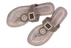 popielaci żeńscy palec u nogi buty Obraz Royalty Free