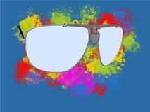 Popielaci okulary przeciwsłoneczni royalty ilustracja