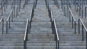 Popielaci schodki Zdjęcia Stock