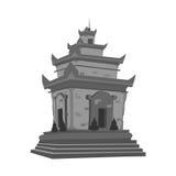 Popielata świątynia Zdjęcia Royalty Free