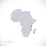 Popielata Afryka mapy wektoru ilustracja ilustracja wektor