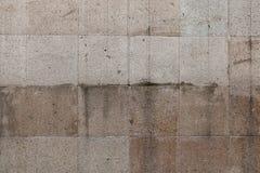 Popielata betonowy blok ściany tekstura Obrazy Royalty Free