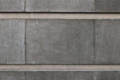 Popielata betonowy blok ściany tekstura Zdjęcie Stock