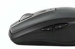 Popielata bezprzewodowa mysz na odosobnionym tle Obrazy Stock