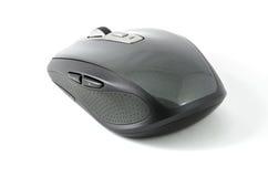 Popielata bezprzewodowa mysz na odosobnionym tle Zdjęcia Royalty Free