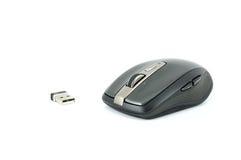 Popielata bezprzewodowa mysz na odosobnionym tle Obraz Royalty Free