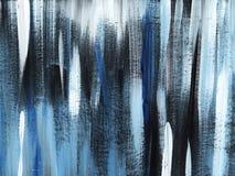 Popielata, czarna, błękitna pasiasta folwarczka tła ręka malująca z miękkim muśnięciem na stonowanym papierze, obraz stock