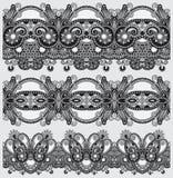 Popielata kolekcja bezszwowy ornamentacyjny kwiecisty royalty ilustracja