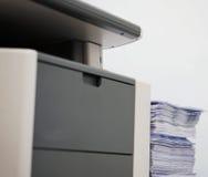 Popielata komputerowa drukarka zdjęcie royalty free