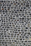 Popielata naturalna kamienna ściana Fotografia Royalty Free