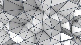 Popielata niska poli- 3D powierzchnia abstrakt odpłaca się Zdjęcia Stock