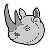 Popielata nosorożec głowa Zdjęcie Royalty Free