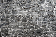 Popielata skały ściany tekstura Obraz Royalty Free