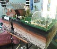 Popielata woda przetwarza projekt Fotografia Stock