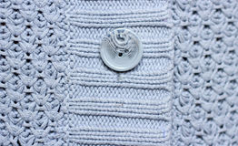 Popielata woolen tekstura Obrazy Stock