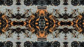 Popielatego i pomara?czowego pasiastego grunge abstrakcjonistyczny projekt royalty ilustracja