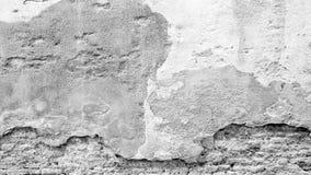 Popielatej skala gnicia ściana mieszająca z cegłą Zdjęcia Stock