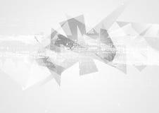 Popielatej technologii wieloboka abstrakta geometryczny tło ilustracji