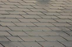 Popielaty łupkowy dach obrazy royalty free