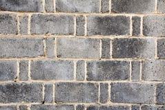 Popielaty ściana z cegieł obraz royalty free